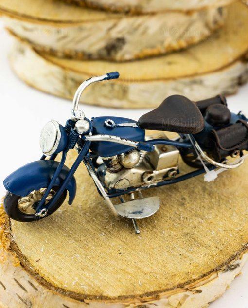 modellino moto da collezione blu