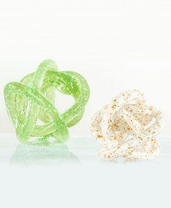 nodi damore cuore matto grandi verde e bianco cuore matto