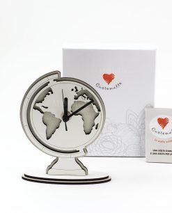orologio mappamondo legno a rilievo prodotti in italia cuorematto
