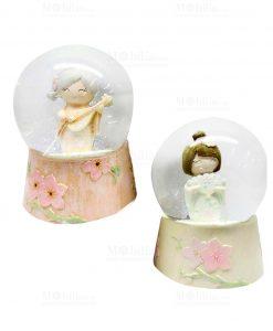 palla di neve con giapponesina due modelli assortiti