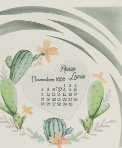 partecipazione e invito nozze con fico dindia e fiori