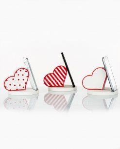 poggia telefono legno cuore 3 modelli assortiti cuore matto
