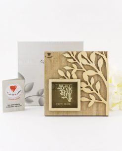portafoto legno con albero della vita linea cuoregaio cuorematto