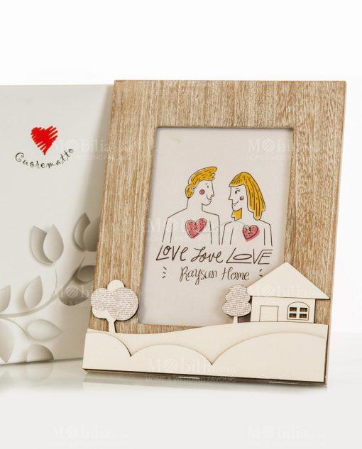 portafoto legno con casetta 195x24 linea mago di oz cuore matto