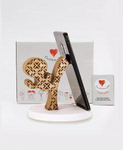 portatelefono legno calcio cuore matto