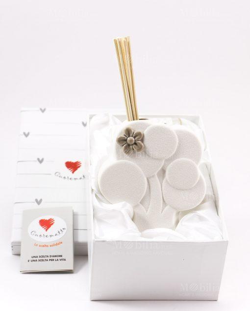 profumatore albero con fiore scatola e bastoncini cuore matto