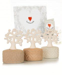 profumatore albero della vita e fragranza 3 colori assortiti con scatola cuorematto