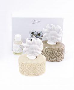 profumatore basso tortora e beige con tappo a forma di sole fragranza e scatola inclusa morena 1