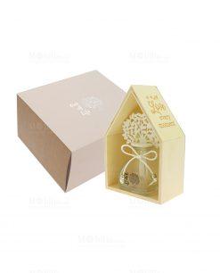 profumatore con scatola casetta legno e albero della vita