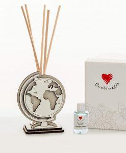 profumatore mappamondo con bastoncini cuorematto 1