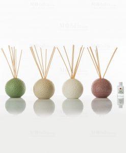 profumatore porcellana lucida 4 colori assortiti con bastoncini e fragranza cuore matto