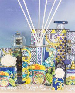 profumatori profumi con fiore varie misure e fragranze linea baroque and rock sicily blu baci milano