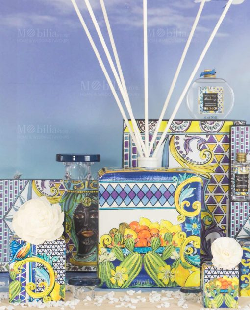 profumatori varie misure e fragranze linea baroque and rock sicily blu baci milano