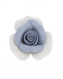 rosa con petali blu e bianco
