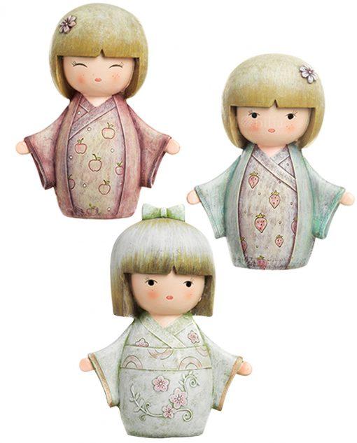 salvadanaio giapponesina tre modelli assortiti