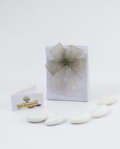 scatolina bag portaconfetti con fiocco a 4