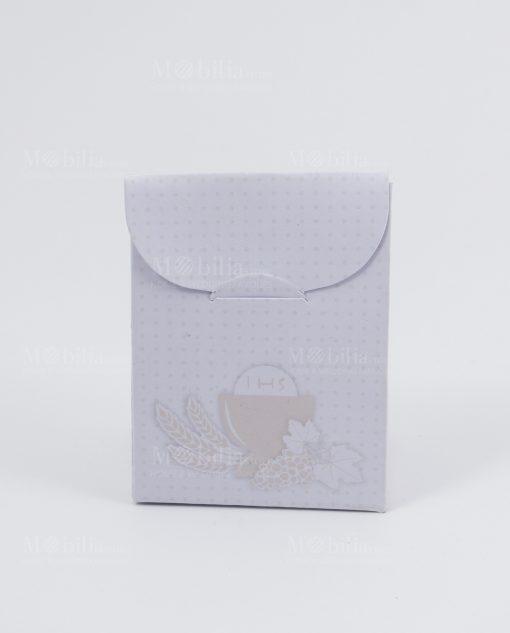scatolina busta bag cartoncino portaconfetti conn calice e uva