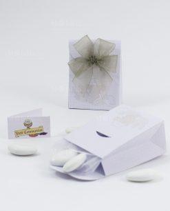 scatolina busta portaconfetti con fiocco a 4