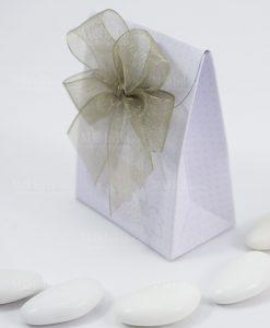 scatolina portaconfetti bag con fiocco a 4