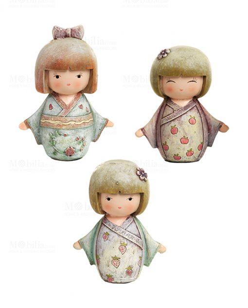 sculturina giapponesina tre modelli assortiti grande