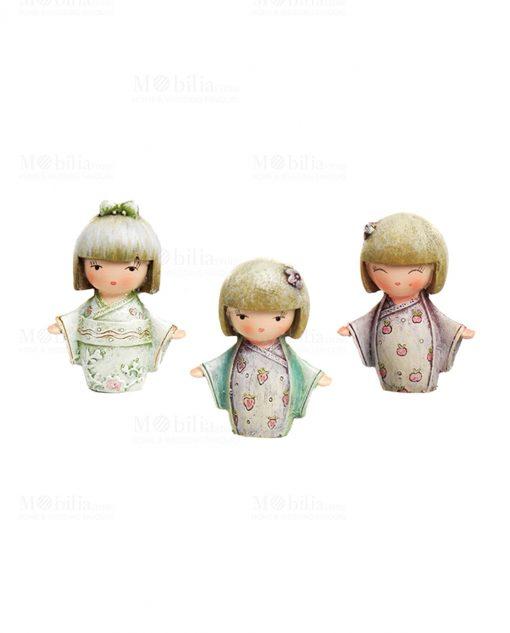 sculturina giapponesina tre modelli assortiti piccole