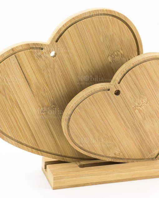 tagliere legno bamboo cuore doppio cuore matto