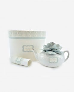 teiera porcellana con fiore bassa linea love rdm design