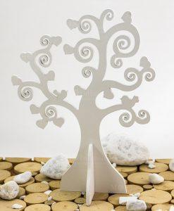 albero della vita con cuoricini e uccellini
