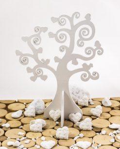 applicazione gessetto cuore ocn fiorellini con albero della vita cuori e uccellini