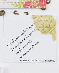 bigliettino ceramiche artigianali siciliane pigna