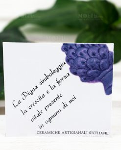 bigliettino ceramiche artigianali siciliane pigna blu