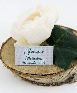 bigliettino cerimonia bianco con decoro