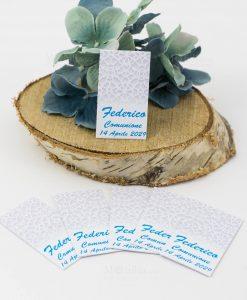 bigliettino cerimonia con decoro geometrico floreale