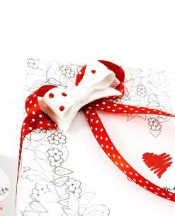 bomboniera confezione lusso dettaglio fiocco cuorematto