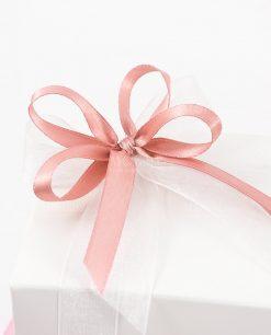bomboniera farfalla rosa dettaglio fiocco
