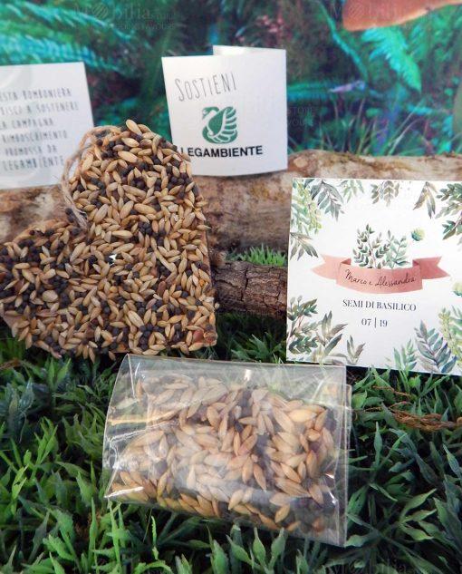 bomboniera legambiente con semi di basilico legambiente