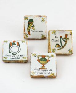 calamita carta da gioco siciliana asso modelli assortiti ceramica
