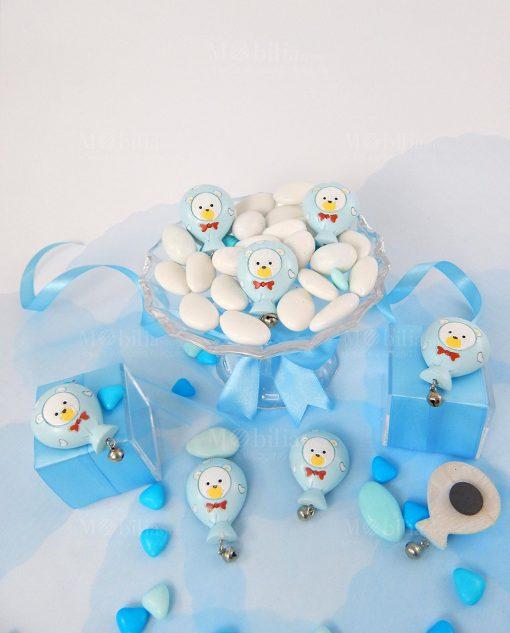 calamita palloncino azzurro con orsetto