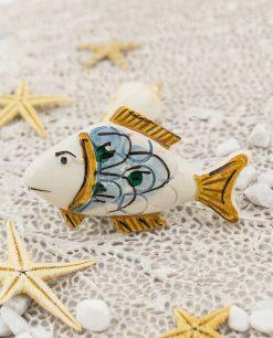 calamita pesce ceramica caltagirone testa bianca e coda gialla