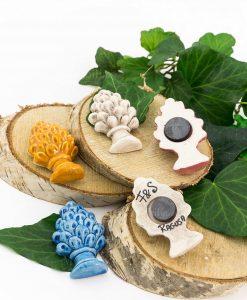 calamita pigna vari colori ceramica artigianale siciliana 1