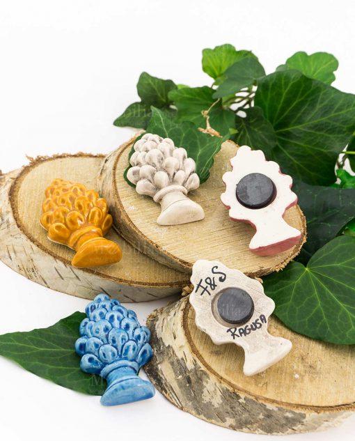 calamita pigna vari colori ceramica artigianale siciliana