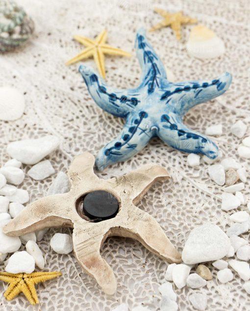 calamita stella marina ceramica caltagirone due colori