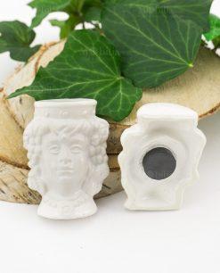 calamita testa di moro donna ceramica bianca
