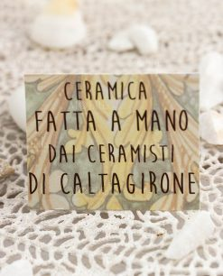 certificato ceramica fatta a mano dai ceramisti caltagirone