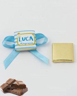 cioccolattino segnaposto con fiocco