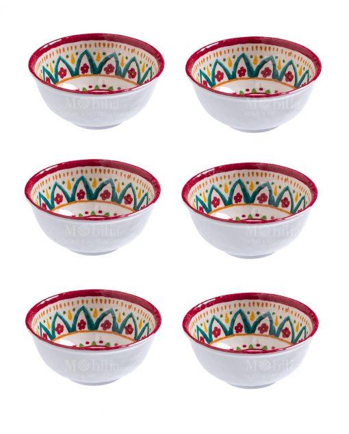 ciotolina rotonda 115x5 set 6 pezzi linea maya brandani