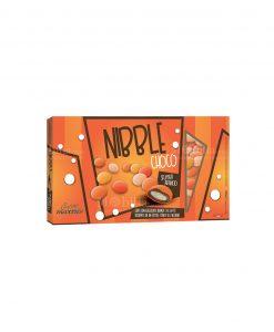 confetti lenti arancio sfumati cioccolato ricoperto da uno strato di zucchero nibble choco Maxtris party