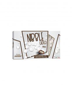 confetti lenti bianchi cioccolato ricoperto da uno strato di zucchero nibble choco Maxtris party