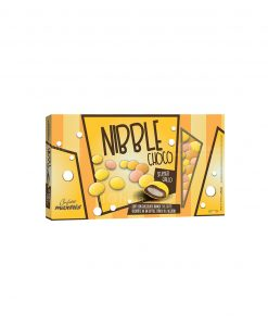 confetti lenti giallo sfumati cioccolato ricoperto da uno strato di zucchero nibble choco Maxtris party