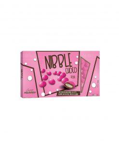 confetti lenti rosa cioccolato ricoperto da uno strato di zucchero nibble choco Maxtris party